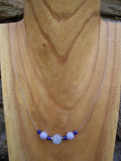 Aigue-marine - Calcédoine bleue – Lapis-lazuli - DM