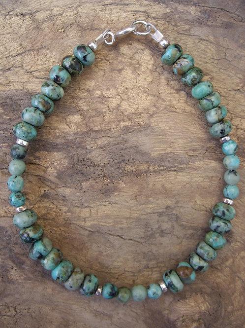 Turquoise africaine rondelles et 4 mm