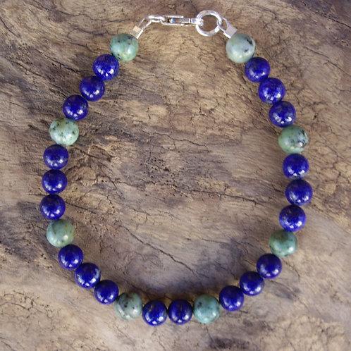 Lapis-lazuli – Turquoise africaine 6 mm