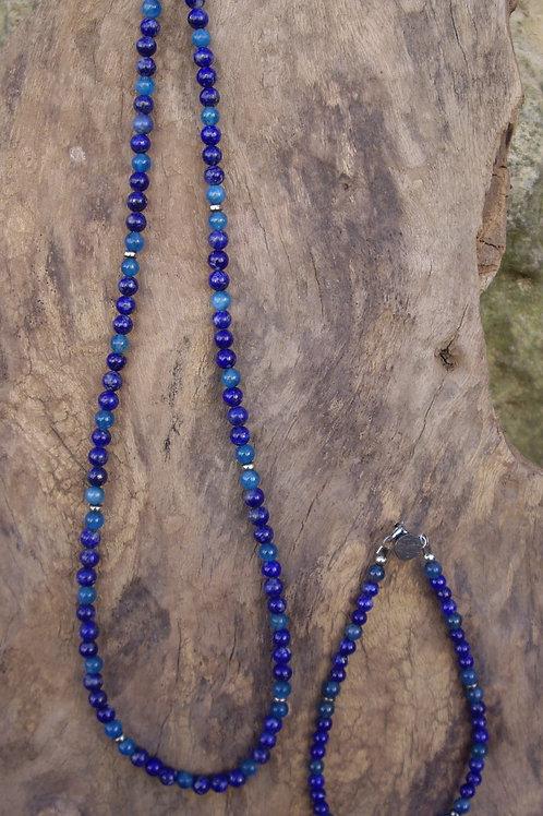 Lapis-lazuli – Apatite – P4 -Parure