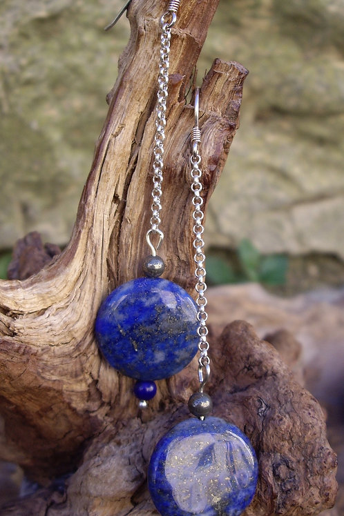 Lapis-lazuli palet chainette