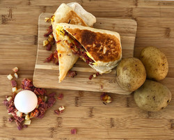 Corned Beef Hash Wrap Special