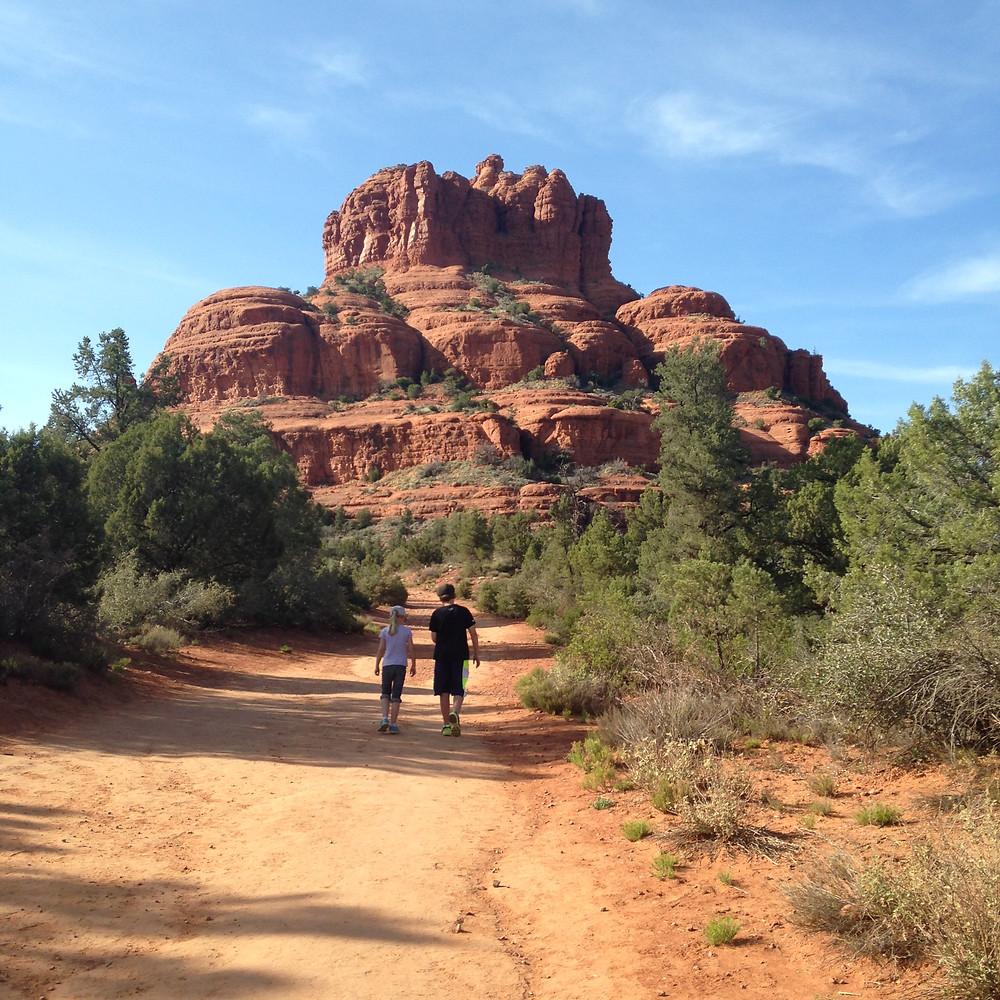 My son and a friend hiking near Sedona, AZ.