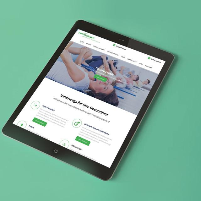 Gestaltung und Umsetzung Website