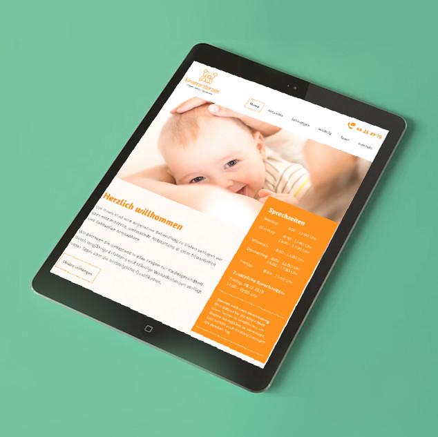 Webdesign Kinderarztpraxis