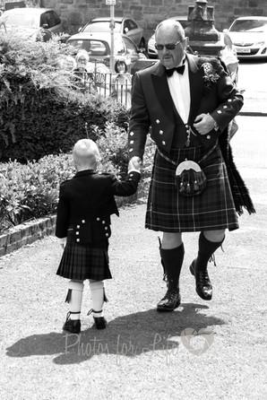 wedding piper & Boy Kirkintilloch
