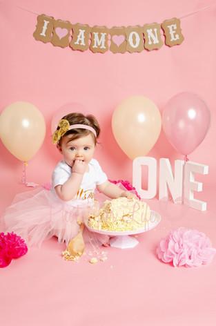 Cake Smash Girl pink Glasgow
