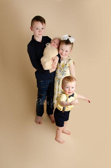 Newborn & siblings Glasgow