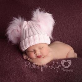 Pink hatted newborn Glasgow