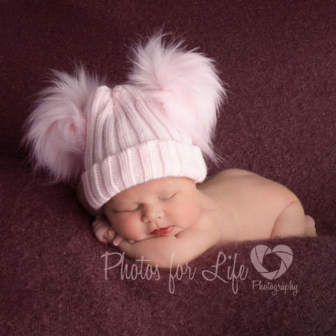 Pink hatted newborn Glasgow