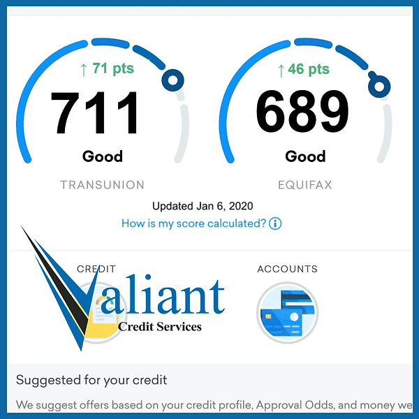 Valiant Credit Repair Services Results