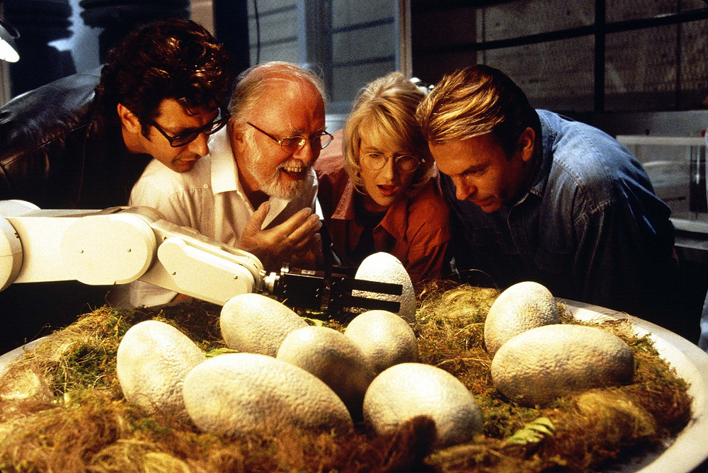 They watch in anticipation as a newborn hatches from her egg
