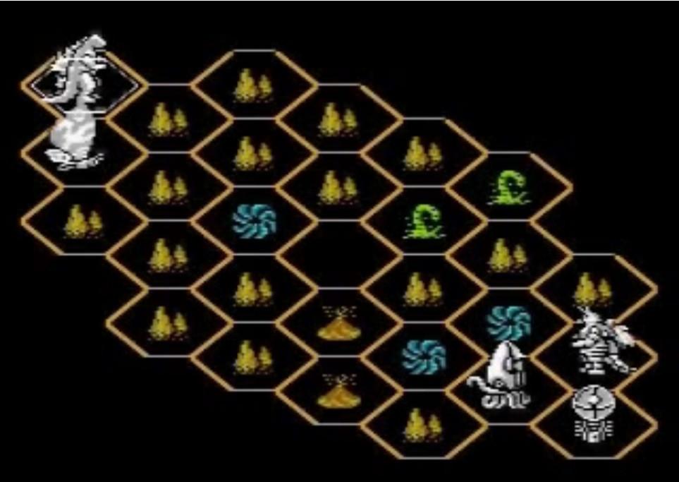 Godzilla NES level 1 map
