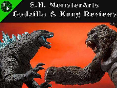 S.H. MonsterArts Godzilla (2021) And Kong (2021) (Reviews)