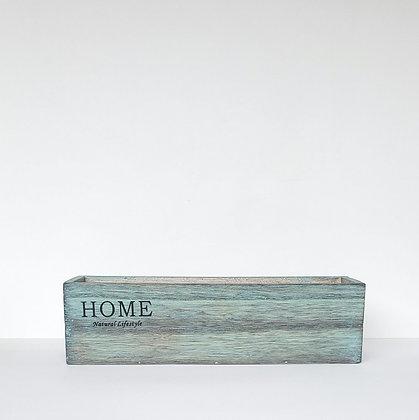 Caja madera larga menta