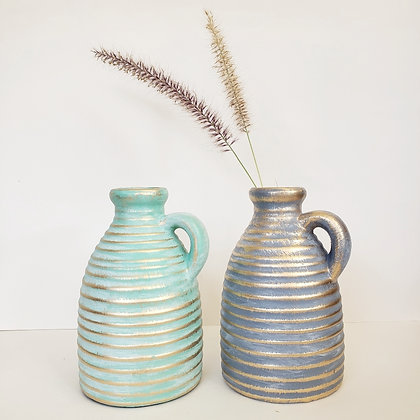 Jarro cerámica turquesa