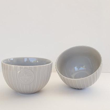 Set 2 Bowl gris lineas M