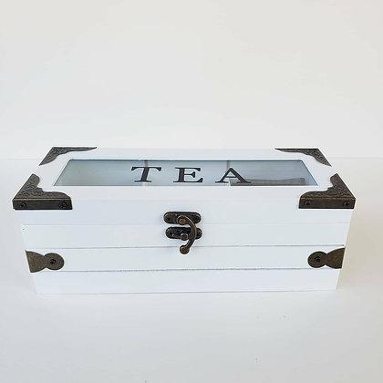 Caja de té cofre 3 espacios