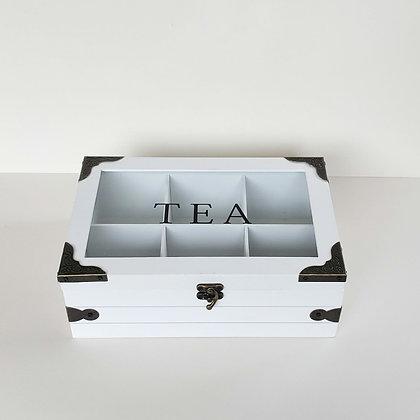 Caja de té cofre 6 espacios