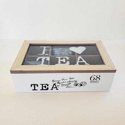 Caja de té 6 Blanca
