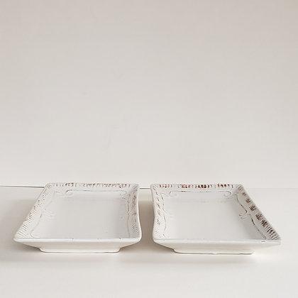 Set 2 bandejas blancas