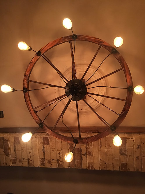 Wagon Wheel ceiling light