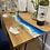 Thumbnail: Ocean Blue Side Table - Solid Oak