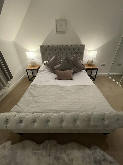 Solid Oak Bedside Tables - Pair