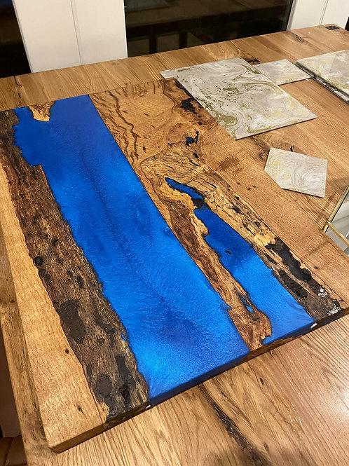 Bespoke River Resin Chopping Board