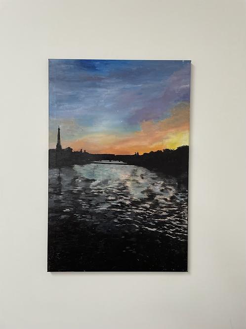 Paris - Sunset Eiffel Tower