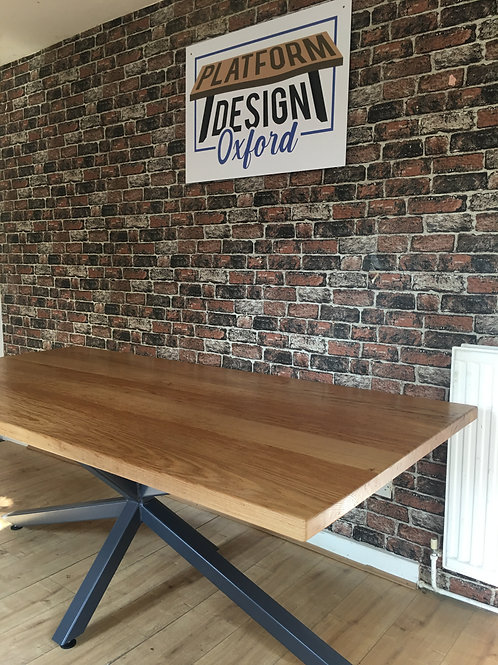 Ex Display 2m Scorpion Solid Oak Dining Table