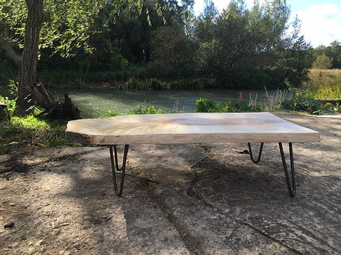 Solid Ash Live Edge Coffee Table