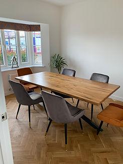 Solid Oak Scorpion Dining Table.JPG