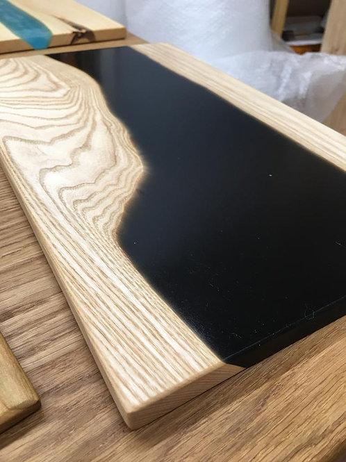 Black Resin Solid Oak Chopping Board