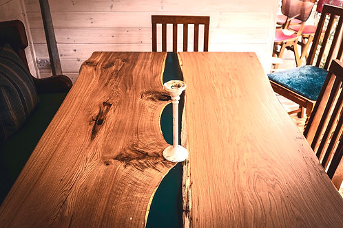 Henley River Solid Oak Live Edge Dining Table