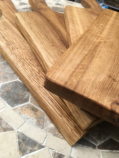 Rustic Oak Cutting Boards