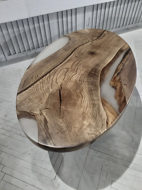 Oval Resin Coffee Table
