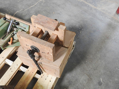 Home made vise in auction lot