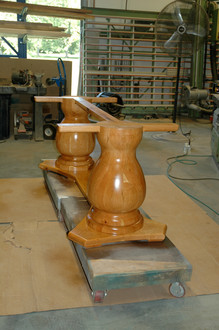 Dual Turned Cherry Pedastal Assembly