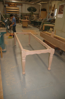 Cherry 4-leg and Apron Base Detail