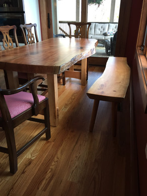 Cherry Trestle Table and Bench