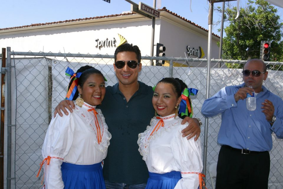 Group dancers and Mr. Lopez