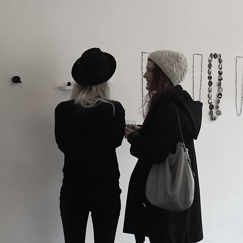 Install of contemporary jewellery exhibition