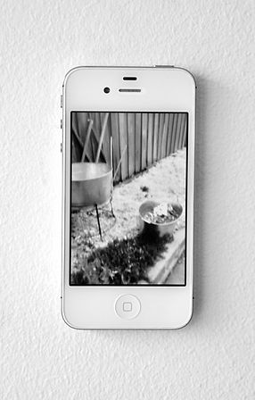 iPhone with video