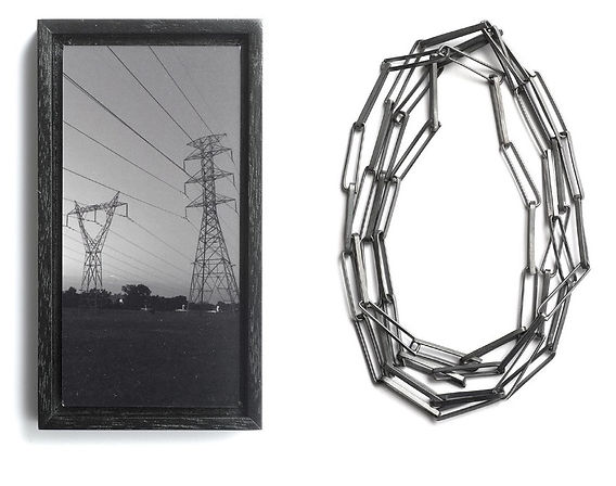 iPhone framed photo and sterling silver necklace, 2017
