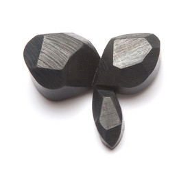 from series 'These Moments Existed' 2013 brooch recycled Australian hardwood, oil pencil, silver, steel 7 x 5 x 2cm SL13-0026