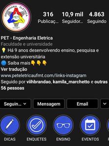 Instagram do PET