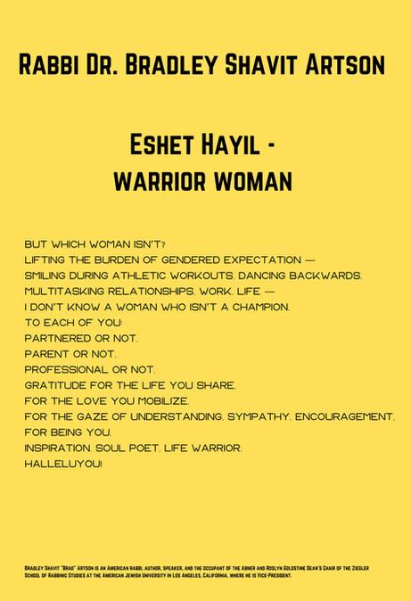Rabbi Dr. Bradley Shavit Artson: Eshet Hayil - Warrior Woman