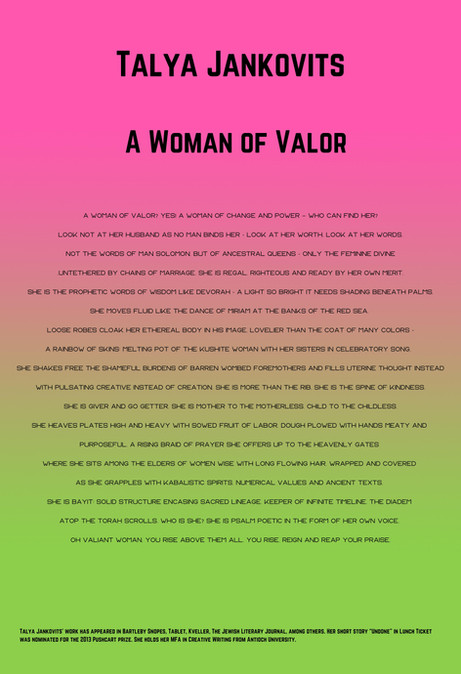 Talya Jankovits: A Woman of Valor