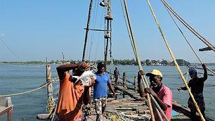 Fishing with Chinese Fishing Net